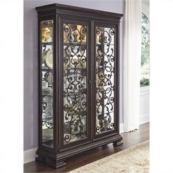 Samuel Lawrence Furniture Monarch China Cabinet in Black