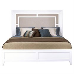 Samuel Lawrence Brighton Queen Upholstered Panel Bed in White