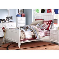 Samuel Lawrence SummerTime Twin Poster Bed in White