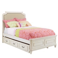 Samuel Lawrence Madison Upholstered Trundle Bed in White