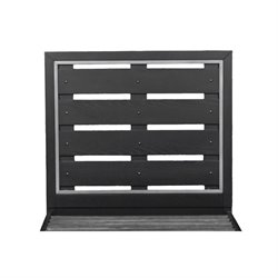 Samuel Lawrence Graphite Twin Panel Headboard in Brown