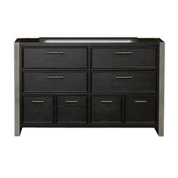 Samuel Lawrence Graphite 6 Drawer Dresser in Brown