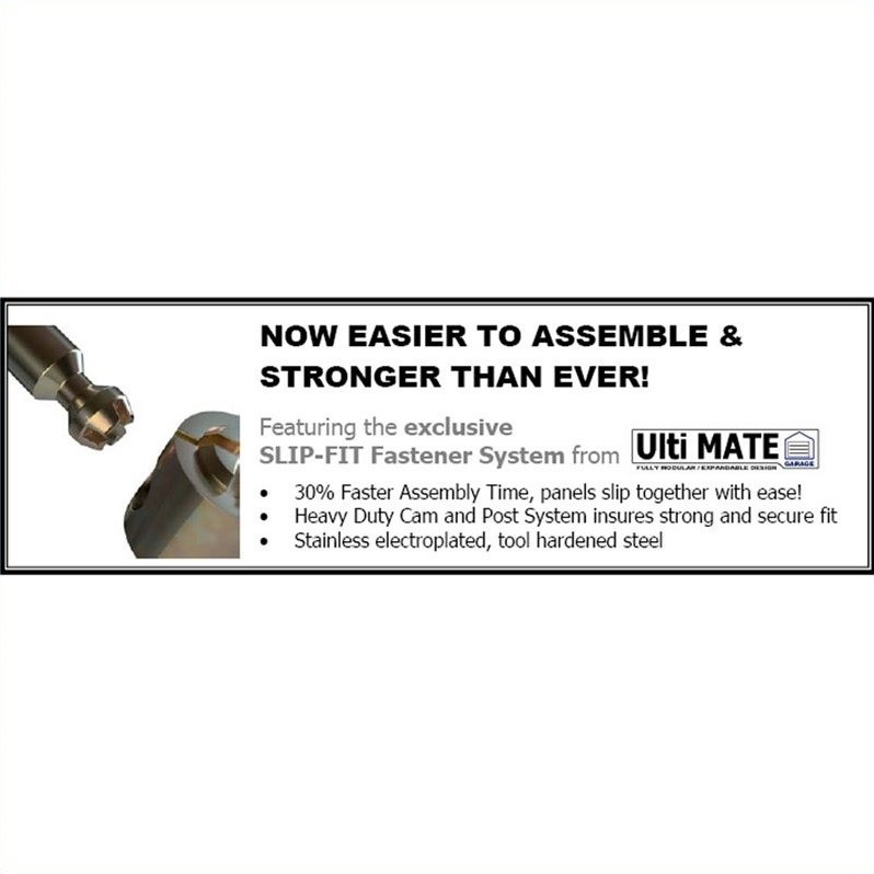 Ulti-MATE 5 Piece Deluxe Garage Storage System in Grey and Black
