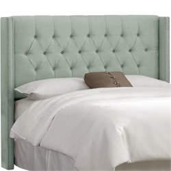 Skyline Upholstered Diamond King Headboard in Swedish Blue