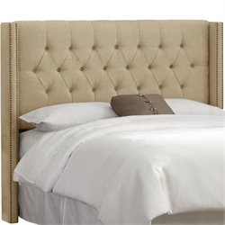 Skyline Upholstered Diamond King Headboard in Sandstone