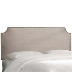 Skyline Upholstered Nailhead Trim Twin Headboard in Platinum