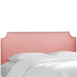 Skyline Upholstered Nailhead Trim Twin Headboard in Petal