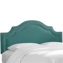Skyline Upholstered Nailhead Trim Twin Headboard in Laguna
