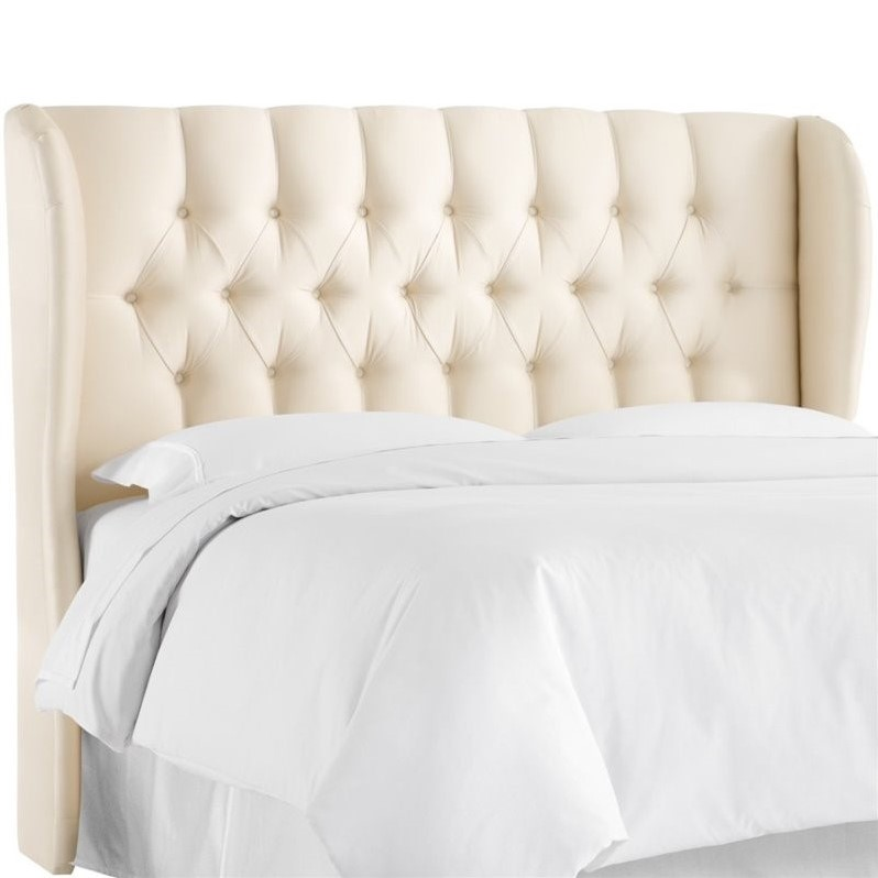 Skyline Upholstered Tufted Wingback King Headboard In