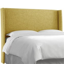 Skyline Upholstered Wingback King Headboard in Golden
