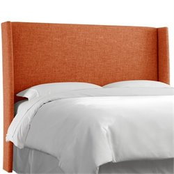 Skyline Upholstered Wingback King Headboard in Atomic