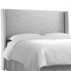 Skyline Upholstered Wingback King Headboard in Zuma Pumice