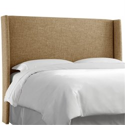 Skyline Upholstered Wingback Full Headboard in Zuma Linen
