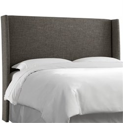 Skyline Upholstered Wingback King Headboard in Charcoal