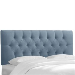 Skyline Upholstered Tufted King Headboard in Ocean