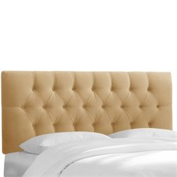 Skyline Upholstered Tufted Queen Headboard in Honey