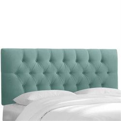 Skyline Upholstered Tufted King Headboard in Caribbean