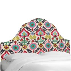 Skyline Upholstered Arched King Headboard in Santa Maria Desert Flower