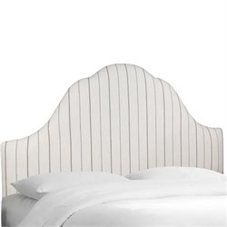 Skyline Upholstered Arched King Headboard in Charcoal