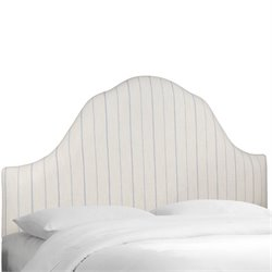 Skyline Upholstered Arched Queen Headboard in Sky