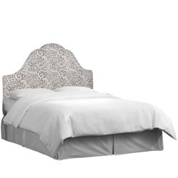 Skyline Upholstered Arched King Headboard in Arta Ash