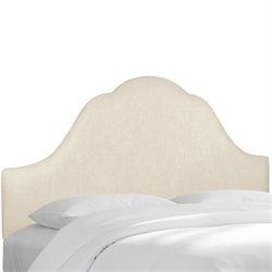 Skyline Upholstered Arched King Headboard in Talc