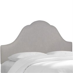 Skyline Upholstered Arched King Headboard in Gray