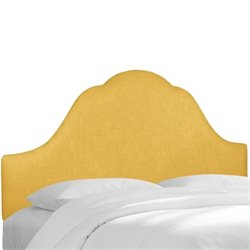 Skyline Upholstered Arched King Headboard in French Yellow