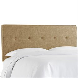 Skyline Upholstered Five Button Twin Headboard in Zuma Linen
