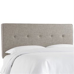 Skyline Upholstered Five Button Twin Headboard in Feather