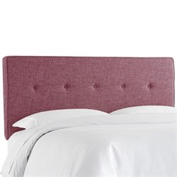 Skyline Upholstered Five Button Twin Headboard in Amethyst