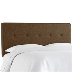 Skyline Upholstered Five Button Twin Headboard in Espresso