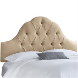 Skyline Upholstered Arch Tufted King Headboard in Sandstone