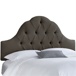 Skyline Upholstered Arch Tufted Twin Headboard in Slate