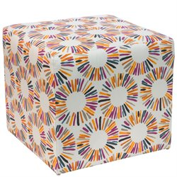 Skyline Furniture Ottoman in Medallion Multi