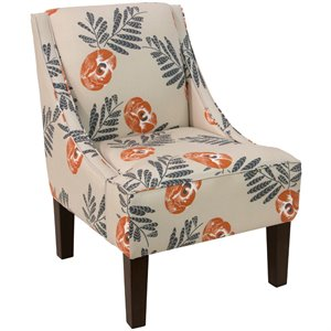 Charmant Skyline Furniture Upholstered Accent Chair In Mod Floral Orange