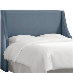 Skyline Furniture Upholstered Headboard in Velvet Ocean-SH2