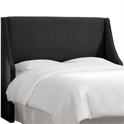 Skyline Furniture Upholstered Headboard in Velvet Black-SH6