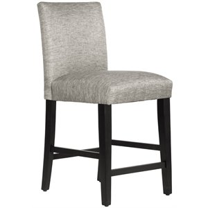 Skyline Furniture Upholstered Bar Stool in Groupie Pewter