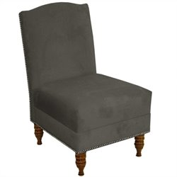 Skyline Furniture Armless Chair in Pewter
