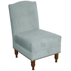Skyline Furniture Upholstered Slipper Chair in Blue