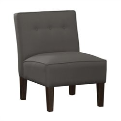 Skyline Furniture Armless Chair Buttons in Charcoal