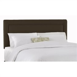 Skyline Furniture Upholstered Headboard in Chocolate - Twin