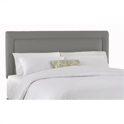 Skyline Furniture Upholstered Headboard in Grey - Twin