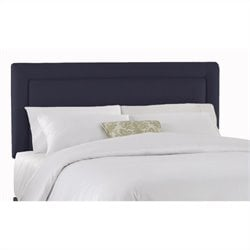 Skyline Furniture Upholstered Headboard in Navy - Twin