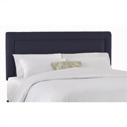 Skyline Furniture Panel Headboard in Navy - Twin