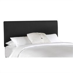 Skyline Furniture Panel Headboard in Black - Twin
