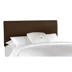 Skyline Furniture Upholstered Linen Slipcover Headboard in Chocolate - Twin