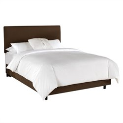 Skyline Furniture Linen Slipcover Bed in Chocolate - California King