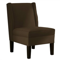 Skyline Furniture Upholstered Armless Wingback Chair in Brown